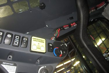 John Deere 320E Skidsteer Dash Control Installation