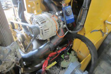 John Deere 329D Skidsteer Valve Installation Engine View
