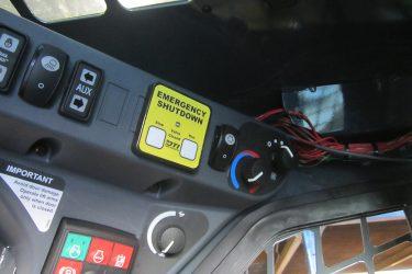 John Deere 333E Skidsteer Dash Control Installation